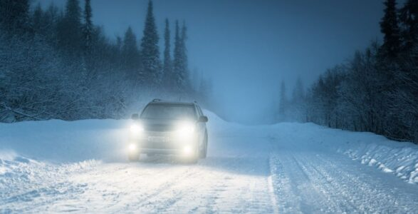 Car Headlights - Winter