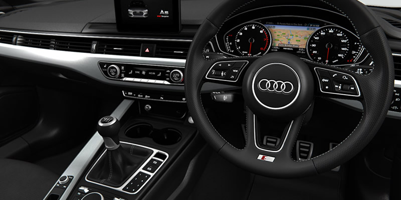 Interior - Audi A5 car lease from Compass Vehicle Services Ltd