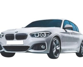 Front View of BMW 1 Series available for bad credit car leasing