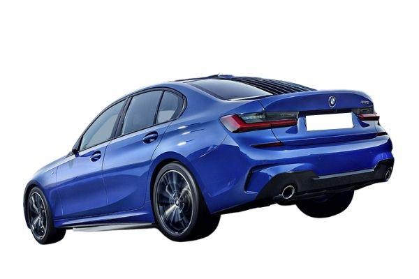 BMW 3 Series rear view blue (1)