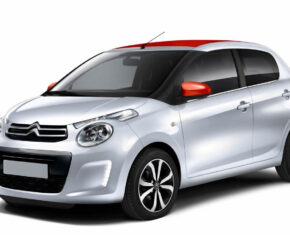 Citroen C1 Silver - side view