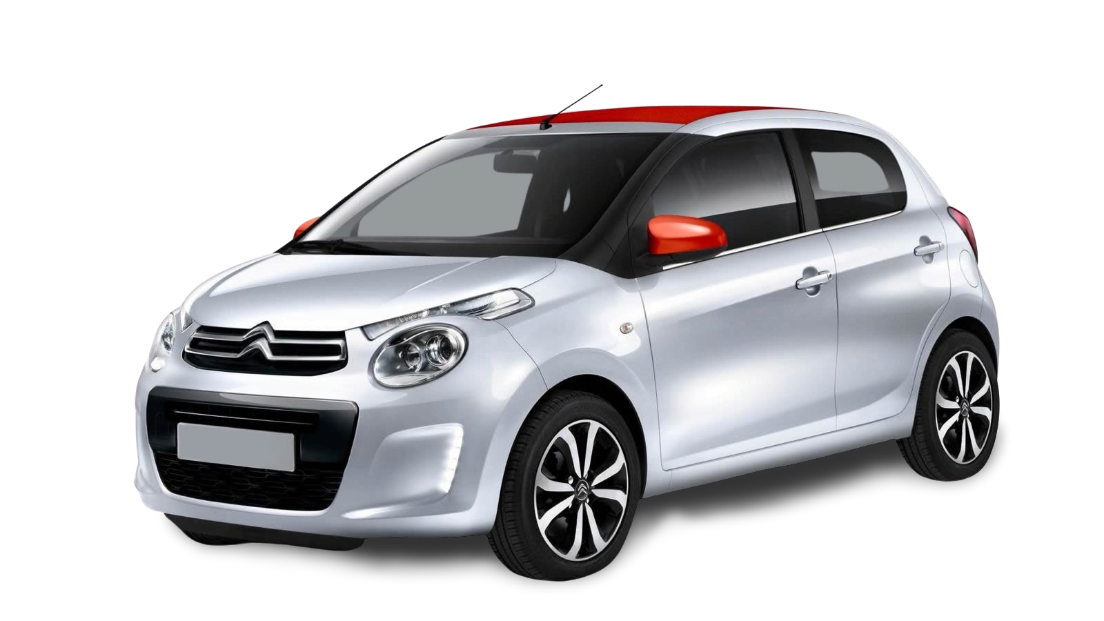 Citroen C1 silver and red - Background Removed