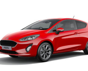 Ford Fiesta Red - Side view