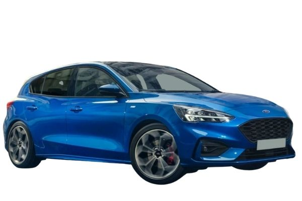 Ford Focus - Side view - blue