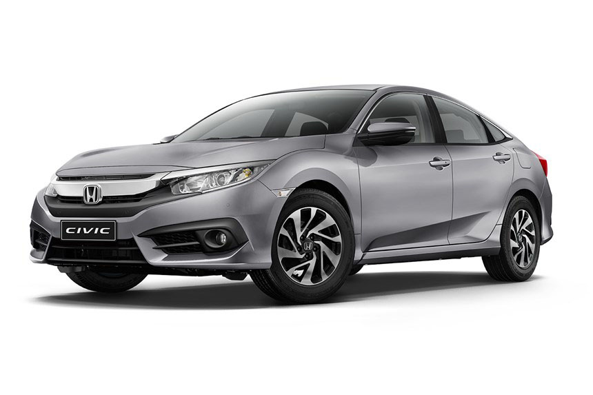 Front and side view of the Honda Civic which is available for a bad credit car lease