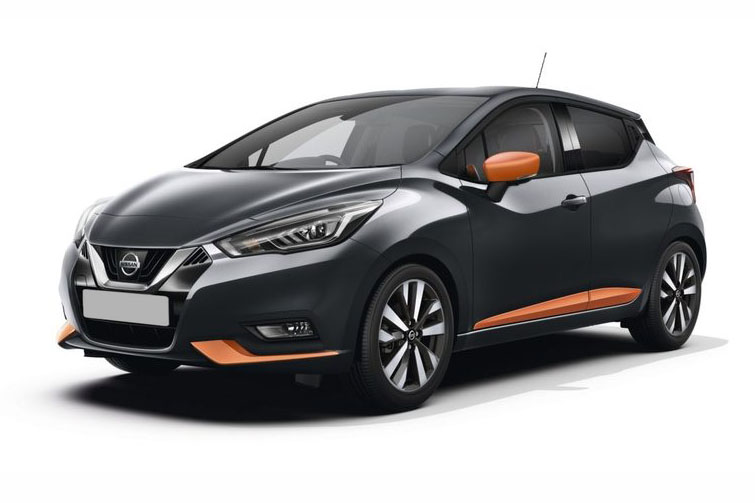 Nissan Micra Black and Orange
