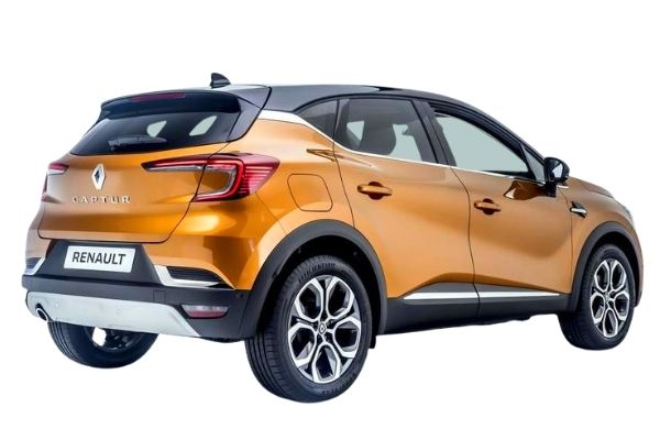 Rear view of the Renault Captur which is available for bad credit car lease