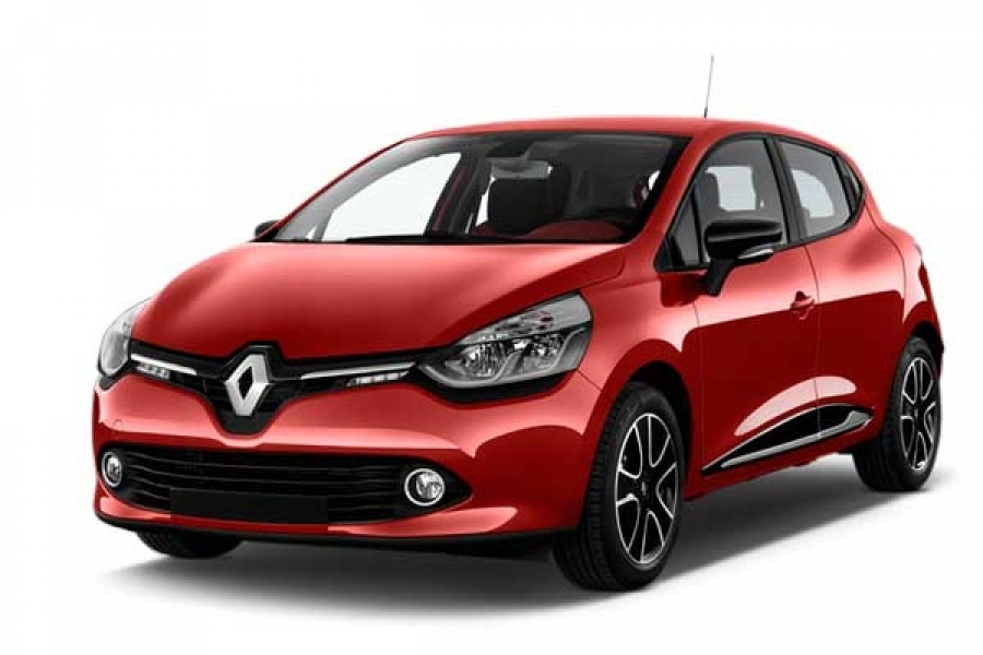 Front view of the Renault Clio which is available for bad credit car lease