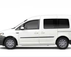 VW Caddy Van White Side