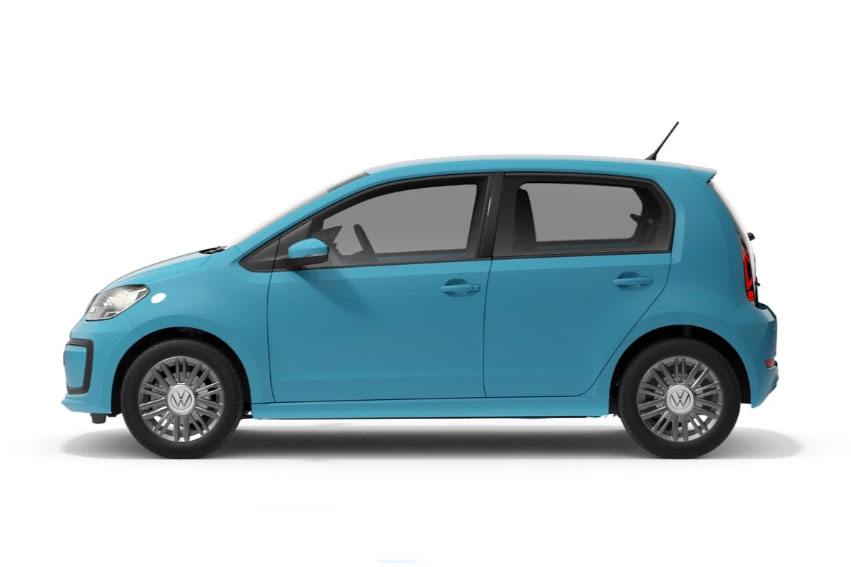 VW UP Blue Side View