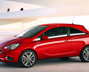 Vauxhall Corsa Design Red - Side View