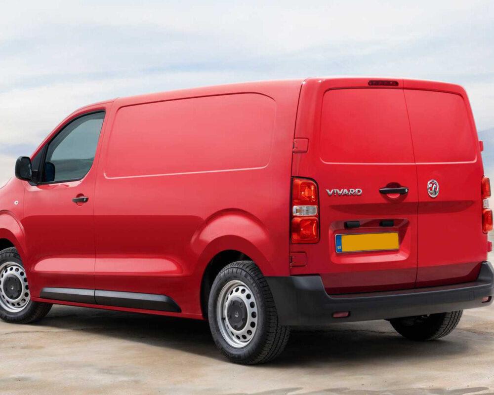 Vauxhall Vivaro Red Rear View