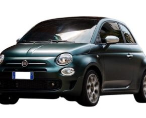 Front View of the Fiat 500 which is available to lease if you have bad credit
