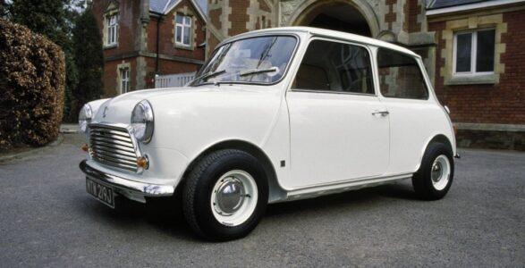 the Austin Mini in white