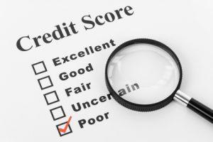 Bad credit score explained
