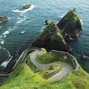 Image of a view in Ireland looking out at the Atlantic