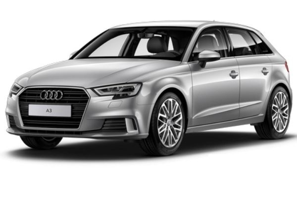 Audi A3 Silver Front and Side