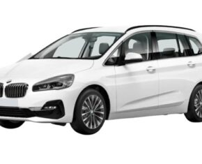 Side view of the BMW 2 Series Gran Tourer. Bad credit car leasing available.