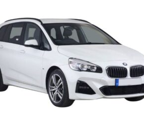 Front and side view of the BMW 2 Series Gran Tourer - available for bad credit car leasing from CVS Ltd