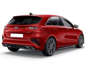 Kia Ceed Rear and Side Red