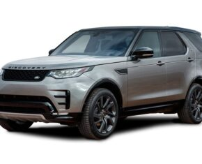 Front and side view of the Land Rover Discovery which is available for bad credit car lease