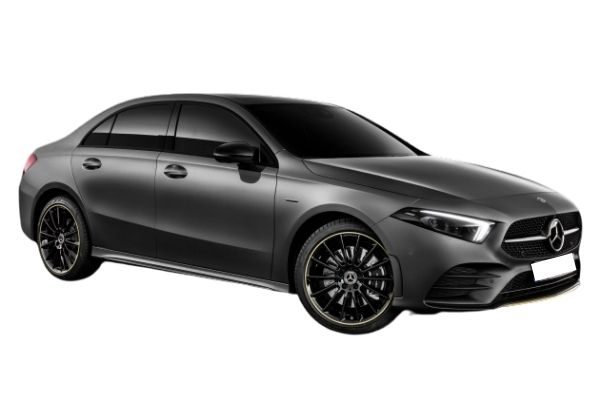 Side view of the Mercedes-Benz A Class which is available for bad credit car lease