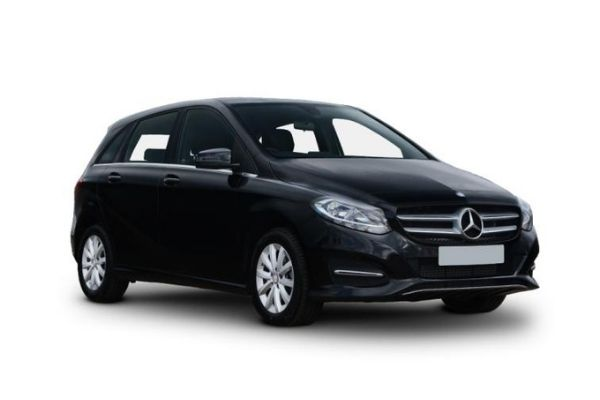 Side view of the Mercedes-Benz B-Class which is available on bad credit car lease