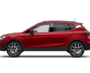 Rear view of the Seat Arona which is available for bad credit car lease