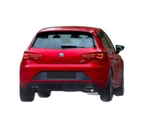 Rear view of the Seat Leon which is available for bad credit car lease