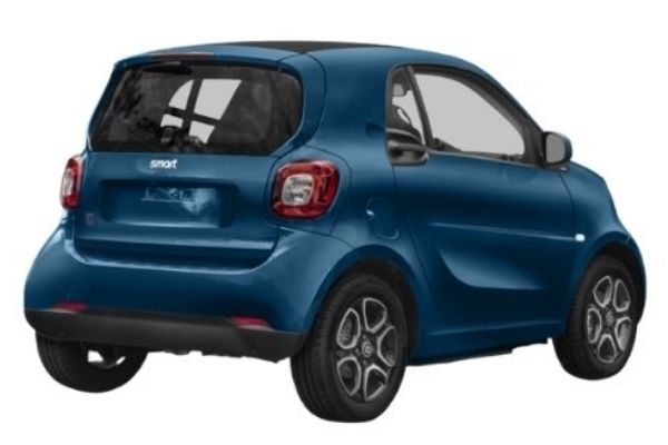 Rear view of the Smart ForTwo - available for bad credit car lease
