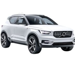 Volvo XC40 Front and Side White (2)