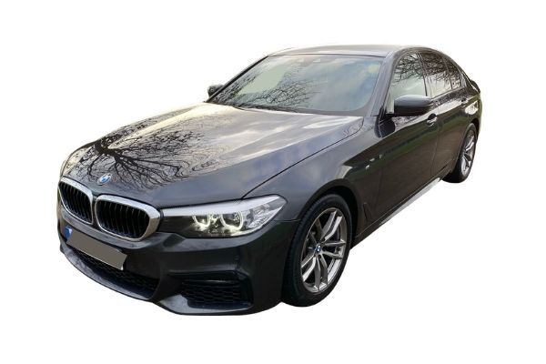 BMW 5 Series front and side view