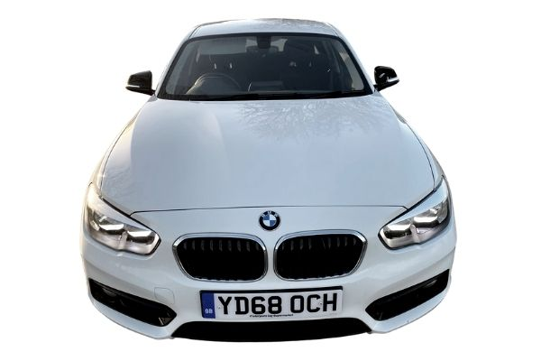In Stock BMW 118i Sport White 68 Reg - Front View