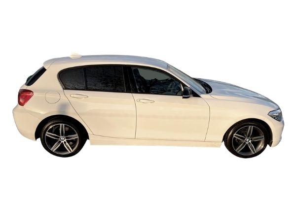 In Stock BMW 118i Sport White 68 Reg - Side View