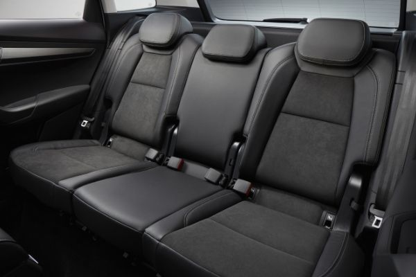 Rear interior view of the Skoda Karoq which is available for bad credit car lease